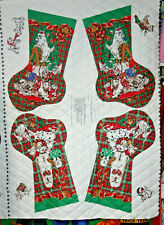 PRE-QUILTED DOGGIE CHRISTMAS STOCKING  -100% COTTON FABRIC