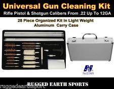 101 Universal Cleaning Kit For Gun Rifle Pistol Shotgun Maintenance Tools w Case