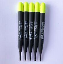 2.5 SSG Ultra Match Pellet Carp Waggler Fishing Floats 11.5cm - Pack of 5 Yellow