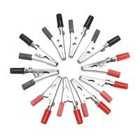 10 pz 50 millimetri maniglia plastica clip di sonde di metallo a coccodrillo HK