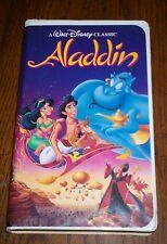 WALT DISNEY ALADDIN RARE BLACK DIAMOND CLASSIC VHS AUG  6 1993 FAMILY ADVENTURE