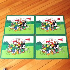 Disney Mickey & Co Pimpernell Placemats Golf Golfing Donald Duck Goofy 4 w Box