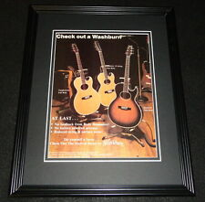 1981 Washburn Guitars Framed 11x14 ORIGINAL Advertisement