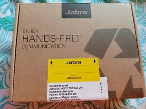 New Jabra 750 Duo Drk Corded Headset (R-7599-829-409)