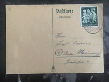 1944 Aachen Germany Postcard Cover To Berlin
