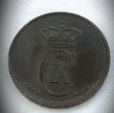1889 Denmark 2 Ore Foreign Coin