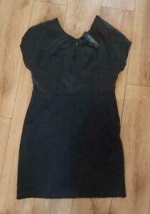 Ladies 'THERAPY' Black sleeveless midi open back dress. Size 16. NEW.