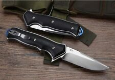 8'' New CNC D2 Steel Blade Fast Opening  G10 Handle Pocket Folding Knife DF105