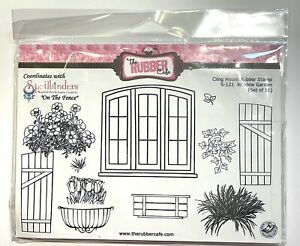 The Rubber Cafe Cling Mount Stamp Set, Window Garden