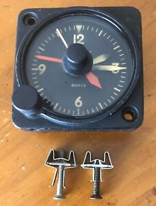 Aircraft / Airplane Working Clock 8 Day 1 7/8 Ins Wakmann Classic Instrument