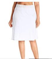 """VASSARETTE Women's Full Figure Waist Half Slip 11873 White 2XL 24"""""""