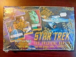 98 Fleer SkyBox STAR TREK Season 3 Unopened Sealed Hobby Box 36 Packs Autographs