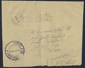 INDIA GRENADIERS 1959 INDIAN CONTINGENT UNEF UNITED NATIONS EMERGENCY FORCE FPO