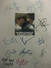 Brokeback Mountain Signed Script X13 Heath Ledger Jake Gyllenhaal Hathaway repnt