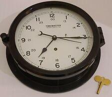 "Antique Chelsea Clock Co Boston Timemaster 10"" Commercial Ship Engine Room Clock"