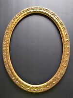 "Ornate Carved Gilt Wood Oval Frame 12"" x 16"" Opening.  EXCELLENT CONDITION"