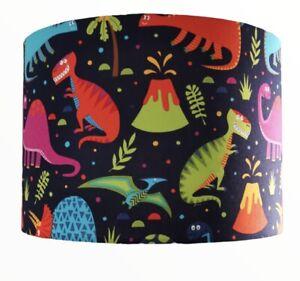 Dinosaur Lamp Shade Pendant On Bavy Blue Fabric 30 Cm