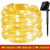 12M/22M LED Solar String Light Lights Waterproof Fairy Tube Outdoor Garden Party