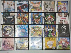 Lot Of 20 Nintendo DS Cases Manuals Inserts Mario animal crossing harvest Moon