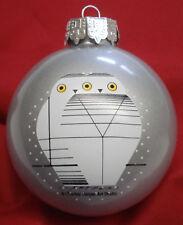 Charlie/ Charley Harper - Glass Christmas Ornament - TWOWLS - fun bird art