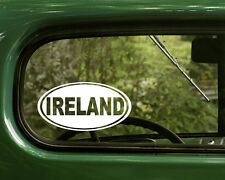 2 IRELAND STICKERs Oval Decal For Bumper Rv Car Truck Window Jeep Laptop