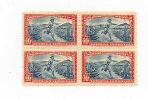 MEXICO  SCOTT  E 3  BLOCK OF FOUR MESSENGER WITH QUIPU  Mint Never Hinged