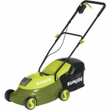 "Walk-Behind Cordless Rechargeable 28V/14"" Push Lawn Grass Mower Catcher Mow Joe"