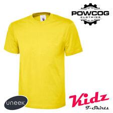 UNEEK KIDS PLAIN 100% COTTON T Shirt Boys Girls Tee | 9 COLOURS | 2 yrs - 13 yrs