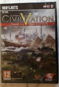 Sid Meier's Civilization V Game of The Year Edition PC DVD - New & Sealed