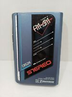 Emerson FM/AM radio stereo cassette player CRS24