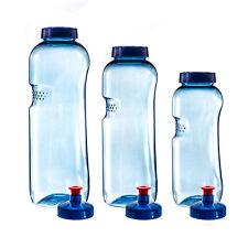 3 x Trinkflasche 0,5L-0,75L-1L aus Tritan (BPA frei) + 3 x Trinkdeckel Push-Pull