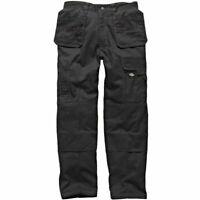 Dickies WD801 Redhawk Pro Work Trousers - Premium BLACK / NAVY Trade Trouser