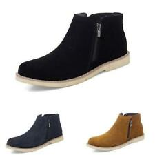 Fall Winter Mens Faux Leather Work Ankle Boots Shoes Pumps Fur Inside Warm New L