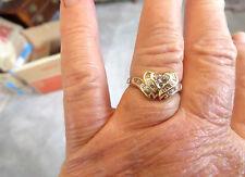 14k YG 1 TCW (.50 Carat Heart)&(.50 Carat Baguette Accent) Diamond Ring G/SI
