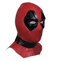 X-Men Deadpool Red Hood Mask Halloween Full Face Latex Helmet Fancy Ball Props(
