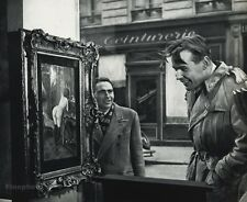 1955 Vintage Print HUMOR Men NUDE PAINTING Paris Photo Art ROBERT DOISNEAU 11x14