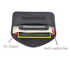 RF Signal Blocker Shield Case Bag Black Anti-degaussing for Large Cellphone GPS