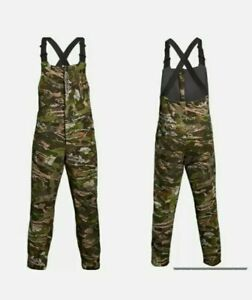 Under Armour Forest Camo Mid Season Hunting Bib Pants Mens Medium 1316872-940