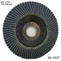 10 pz disco lamellare in nylon allo zirconio 115 x 22 mm grana 80 13300 R.P.M
