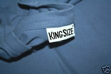 Men's King Size T Shirt 2XL Blue Short Sleeves Very Good Condition