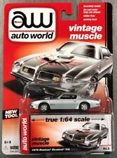 AUTO WORLD 1975 PONTIAC FIREBIRD T/A VINTAGE  MUSCLE RUBBER TIRES FREE SHIPPING.