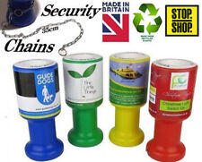 Charity Donation Collection Money Tin Pot Box Fundraising / Chains / Stickers