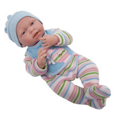 """Berenguer La Newborn 15 """" Real Baby Boy in Striped Pajamas ~ Made in Spain 18057"""