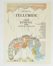 TELLURIDE JAZZ FESTIVAL 6th 1982 Artist Armando Pena POSTER