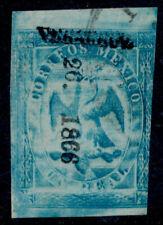 ad16 Mexico #21 t-5 1R Veracruz 26-1866 Sz 1757A Est $10-20 Lite Cnl Beauty