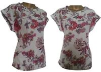 Womens Ladies NEXT Lovely Woven Floral Print T Shirt Blouse Top Tunic  8-18