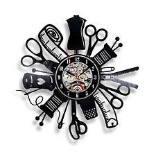 Sewing Instruments Professional Designer Hobby Sew Vinyl Decor Wall Clock Woman