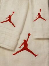 Jumpman Personalized 3 Piece Bath Towel Set Any Color Choice