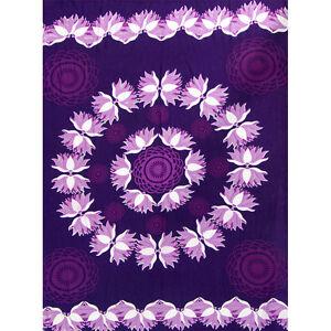 Purple Lotus Rayon Sarong or Altar Cloth!