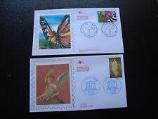 FRANCE - 2 enveloppes 1er jour 1998 (unesco/nature) (B7)french